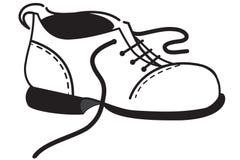 План одного ботинка иллюстрация вектора