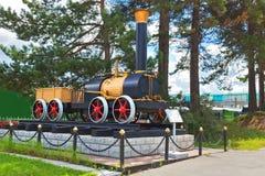 План первого русского локомотива пара Cherepanov 18 Стоковая Фотография