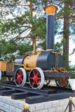 План первого русского локомотива пара Cherepanov 18 Стоковое фото RF