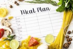 План питания и продукты стоковые фото