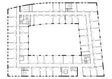 План пола здания Стоковые Изображения RF