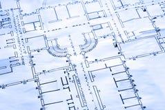 план пола светокопии Стоковое Фото