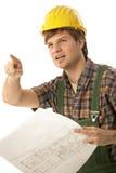 план пола строителя потревожился Стоковая Фотография
