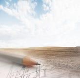 план проектной модификации Стоковые Фотографии RF