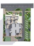 План развития строительной площадки арендуемой квартиры, перевод 3D Стоковая Фотография