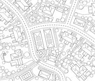 план района Стоковое фото RF