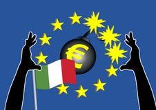 План спасения евро для Италии иллюстрация вектора