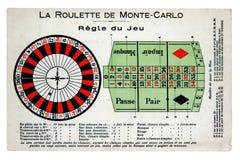 План таблицы рулетки стиля француза стоковые изображения