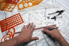 план чертежей стоковая фотография rf