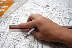 план чертежей стоковое фото rf