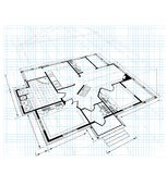 план деревенского дома Стоковое Изображение RF