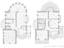 план дома светокопии Стоковая Фотография
