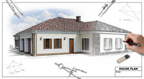 план 2 домов Стоковое Изображение