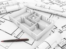 План Apartament стоковые изображения