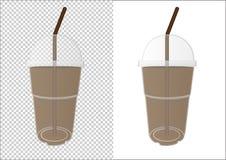 Пластиковая чашка для ваших дизайна и логотипа стоковое фото