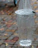 Пластиковое стекло, дождливый день стоковое фото rf