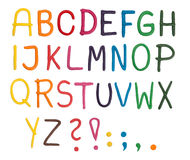 пластилин алфавита Стоковое фото RF