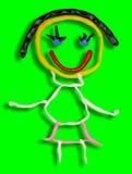 Пластилин маленькой девочки Стоковые Фото