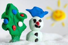 Пластилин снеговика Стоковые Фотографии RF