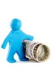 пластилин человека кредитки Стоковые Изображения