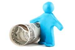 пластилин человека кредитки Стоковая Фотография RF