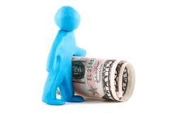 пластилин человека кредитки Стоковая Фотография