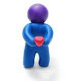 пластилин человека удерживания сердца Стоковые Фотографии RF