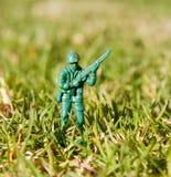 пластичная игрушка воина Стоковые Фотографии RF