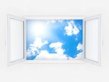 пластичное окно Стоковые Изображения