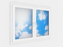пластичное окно Стоковые Фото
