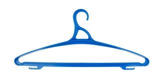 Пластичные вешалки для изолированных одежд Стоковая Фотография RF