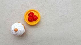 Пластичные игрушки десертов Стоковое Изображение