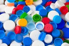 Пластичные крышки бутылки Стоковое Изображение RF