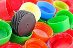 Пластичные крышки бутылки Стоковые Фотографии RF