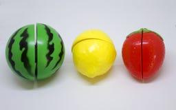 Пластичные овощи и плодоовощи Стоковое Изображение RF