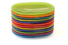 пластичные плиты Стоковые Фотографии RF