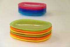 пластичные плиты Стоковое Изображение RF