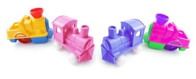 пластичные поезда игрушки Стоковое Фото