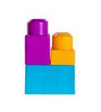 Пластичные строительные блоки на предпосылке Стоковая Фотография