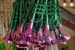 Пластичные трубы на будочке ярмарочной площади Стоковые Фото