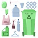 Пластичные установленные значки погани бесплатная иллюстрация