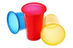 Пластичные чашки Стоковое Изображение