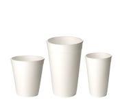 Пластичные чашки Стоковые Фото