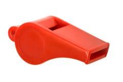 пластичный красный свисток Стоковые Фотографии RF