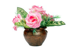 Пластичный цветочный горшок Стоковое фото RF