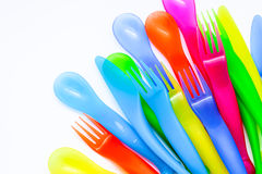 Пластичный cutlery Стоковые Фотографии RF