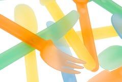 пластичный tableware лета Стоковые Изображения RF