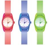 пластичный wristwatch Стоковая Фотография