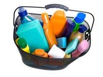 пластмасса бутылки корзины полная Стоковое Изображение