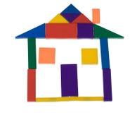пластмасса дома блоков Стоковая Фотография